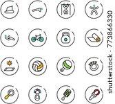 line vector icon set  ... | Shutterstock .eps vector #773866330