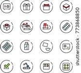 line vector icon set   safe... | Shutterstock .eps vector #773868850