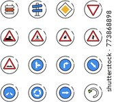 line vector icon set   sign... | Shutterstock .eps vector #773868898