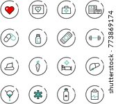 line vector icon set   heart... | Shutterstock .eps vector #773869174