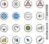line vector icon set   right... | Shutterstock .eps vector #773869888