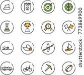 line vector icon set  ... | Shutterstock .eps vector #773869900