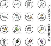 line vector icon set  ... | Shutterstock .eps vector #773870140
