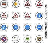 line vector icon set   sign...   Shutterstock .eps vector #773870728