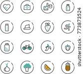 line vector icon set   heart... | Shutterstock .eps vector #773873524