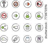 line vector icon set   antenna... | Shutterstock .eps vector #773873596
