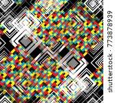 seamless pattern patchwork... | Shutterstock . vector #773878939