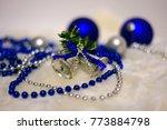 Blue And Silver Christmas Ball...