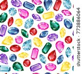 background of precious stones ... | Shutterstock .eps vector #773886064