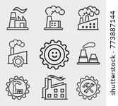 factory vector icons set. black ... | Shutterstock .eps vector #773887144