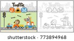 traffic jam cartoon vector ...   Shutterstock .eps vector #773894968