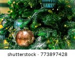 christmas tree decoration... | Shutterstock . vector #773897428