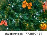 christmas tree decoration... | Shutterstock . vector #773897434