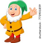 cartoon happy dwarf | Shutterstock .eps vector #773901859