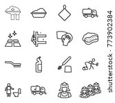 thin line icon set   factory... | Shutterstock .eps vector #773902384