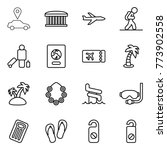 thin line icon set   car... | Shutterstock .eps vector #773902558