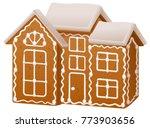 christmas gingerbread house... | Shutterstock .eps vector #773903656
