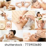 women getting spa treatment.... | Shutterstock . vector #773903680