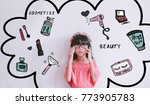 young asian kid girl  with... | Shutterstock . vector #773905783