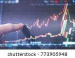 finger pointing on stock... | Shutterstock . vector #773905948