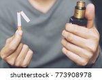 man quit smoking. concept... | Shutterstock . vector #773908978