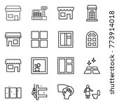 thin line icon set   shop ... | Shutterstock .eps vector #773914018
