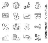 thin line icon set   dollar... | Shutterstock .eps vector #773914036