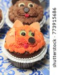 cupcake in the form of a fox... | Shutterstock . vector #773915686