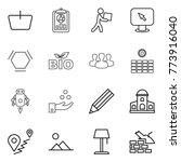 thin line icon set   basket ... | Shutterstock .eps vector #773916040