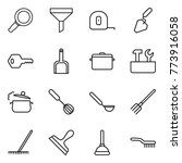 thin line icon set   magnifier  ... | Shutterstock .eps vector #773916058