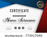 certificate template luxury and