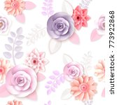 vector flowers seamless pattern ... | Shutterstock .eps vector #773922868