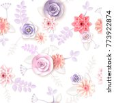 vector flowers seamless pattern ... | Shutterstock .eps vector #773922874