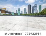 empty floor with modern... | Shutterstock . vector #773923954