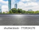 empty road with modern business ... | Shutterstock . vector #773924170