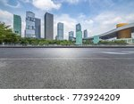 empty road with modern business ... | Shutterstock . vector #773924209