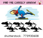skater. find the correct shadow.... | Shutterstock .eps vector #773930608