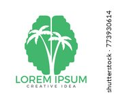 green brain tree logo design.... | Shutterstock .eps vector #773930614