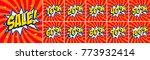 big red sale set. sale... | Shutterstock .eps vector #773932414