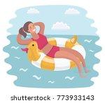vector cartoon illustration of... | Shutterstock .eps vector #773933143