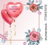 love invitation card valentine... | Shutterstock .eps vector #773937070