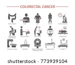 colorectal cancer symptoms.... | Shutterstock . vector #773939104