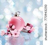 sakura perfume ads  realistic...   Shutterstock .eps vector #773943250