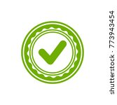 valid seal icon. green circle... | Shutterstock .eps vector #773943454