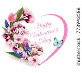 greeting card happy valentines... | Shutterstock .eps vector #773943586
