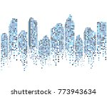 modern city skyline vector... | Shutterstock .eps vector #773943634