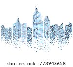 modern city skyline vector... | Shutterstock .eps vector #773943658