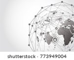 global network connection.... | Shutterstock .eps vector #773949004