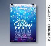 vector merry christmas party... | Shutterstock .eps vector #773949460