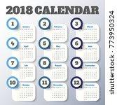 2018 modern calendar template ... | Shutterstock .eps vector #773950324